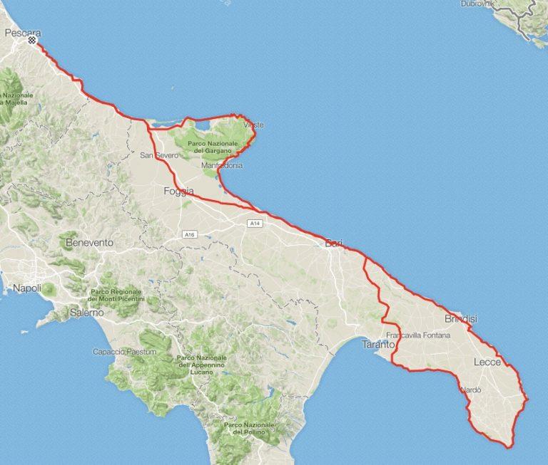 Adriatic Marathon, mappa del percorso