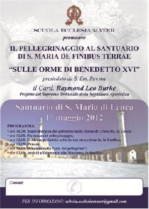 Leuca - In visita il Cardinale Raymond Leo Burke