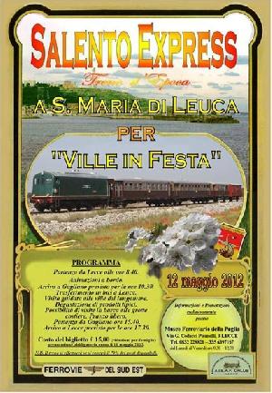 Leuca - Treno Storico - SALENTO EXPRESS - per Ville in Festa 2012