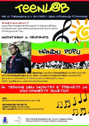 Castrignano del Capo - Incontro con il cantante Nandu Popu (Sud Sound System)