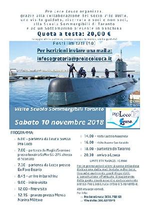 Pro Loco Leuca - Visita guidata Scuola Sommergibili di Taranto