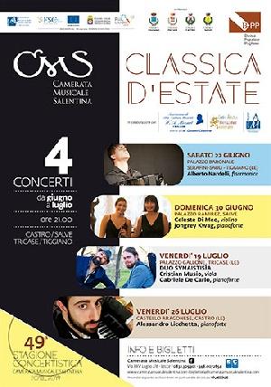 Classica d'estate - CELESTE DI MEO, violino JONGREY KWAG, pianoforte