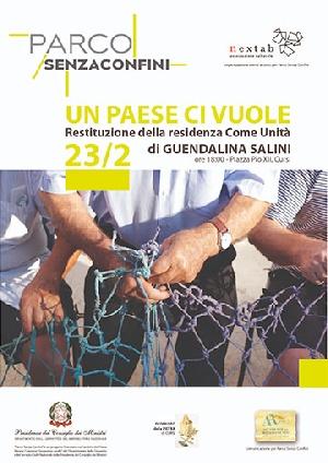 Cursi (LE) - Un paese ci vuole, restituzione della residenza artistica  - come Unità -  di Guendalina Salini
