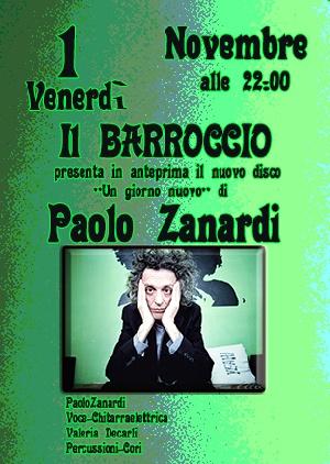 Il Barroccio presenta in anteprima il nuovo disco 'un giorno nuovo' di Paolo Zanardi.