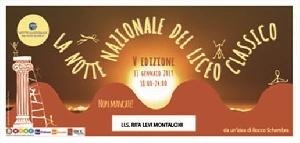 LA NOTTE BIANCA AL LICEO CLASSICO RITA LEVI MONTALCINI DI CASARANO -  Venerdì 11 gennaio 2019, dalle 18 alle 24