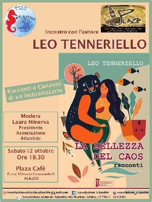 Sabato 12 ottobre ad Alezio (Le) presentazione de 'La bellezza del caos' di Leo Tenneriello
